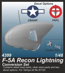 F-5A Recon Lightning Conversion Set for Tamiya 1:48
