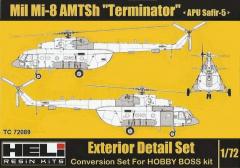 Mil Mi-8 AMTsh Terminator (APU Safir-5) conversion set 1:72