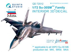 Su-30SM interior for Zvezda 1:72