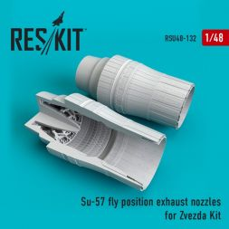 Su-57 fly position exhaust nozzles for Zvezda 1:48