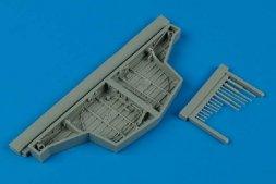Hawker Sea Fury wheel bays for Trumpeter 1:48