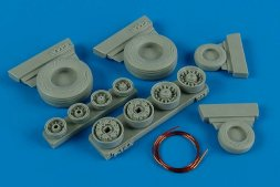 F-14A Tomcat weighted wheels for Hasegawa 1:48