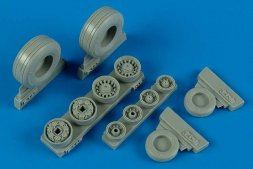 F-14B/D Tomcat weighted wheels for Hasegawa 1:48