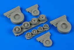 F-14A Tomcat weighted wheels for Academy 1:48