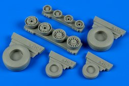 F-14B/D Tomcat weighted wheels for Hobby Boss 1:48