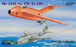 Me 1101 vs Focke-Wulf FW Ta 183 (four kits) 1:144