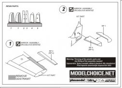Bf 109E control surfaces for Tamiya 1:72
