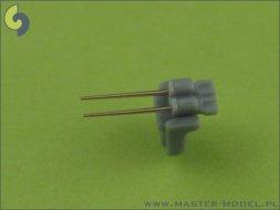 Master German 37mm/83 SK C/30 barrels (20pcs) 1:350