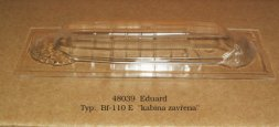 Bf 110E vacu canopy for Eduard 1:48