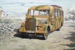 Opel Blitz Omnibus W39 Late - WWII service 1:72