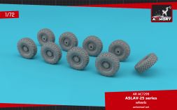 Armory ASLAV-25 series wheels w/ Mich. 325/85 R16 XML tires 1:72