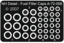 NH Detail Fuel Filler Caps (Bf109E/F/G, Bf.110C/D/G, Me410) 1:72