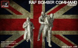 RAF WWII crewmen in high altitude outfit - Set B 1:72
