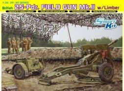 Dragon British 25-Pdr. Field Gun Mk.II w/Limber 1:35