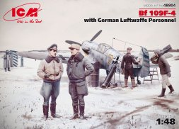 Bf 109F-4 w/ German Luftwaffe Personnel 1:48