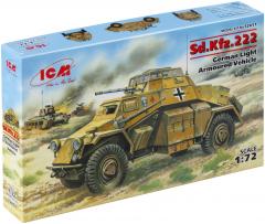 Sd.Kfz.222 German Light Armoured Vehicle 1:72