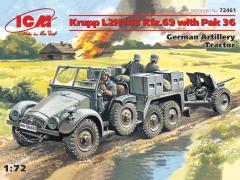 Krupp L2H143 Kfz.69 w/ Pak 36 German Artillery Tractor 1:72