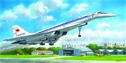 Tupolev Tu-144D Soviet Supersonic Passenger Aircraft 1:144