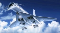 Tupolev Tu-144 Soviet Supersonic Passenger Aircraft 1:144