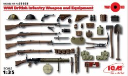 ICM WWI British Infantry Weapon and Equipment 1:35