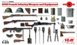 ICM WWI French Infantry Weapon and Equipment 1:35