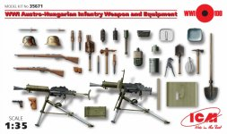 ICM WWI Austro-Hungarian Infantry, Weapon and Equipment 1:35