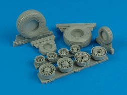 F-14A Tomcat weighted wheels for Tamiya 1:32