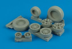 F-16I Sufa weighted wheels for Academy 1:32