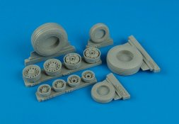 F-14D Super Tomcat weighted wheels for Trumpeter 1:32