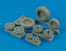 F-16C/CJ Falcon weighted wheels for Tamiya 1:32