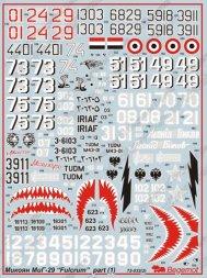 MiG-29 Fulcrum Part 1 1:72
