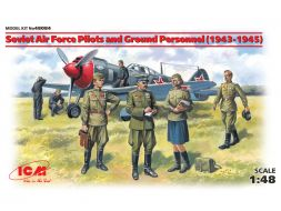 Soviet Air Force Pilots and Ground Personnel 1943-1945 1:48