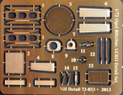 NH detail Opel Blitzbus AERO Detail Set for Roden 1:72