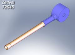 Zedval 2A51 120mm barrel for 2S9 Nona-S 1:72