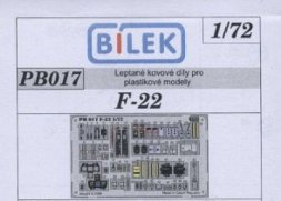 Bilek F/A-22 P.E. detail set 1:72