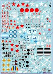 Polikarpov I-16 family Decals 1:72