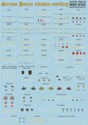 Print Scale German Panzer division marking 1:72