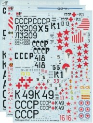 Polikarpov U-2/ Po-2 family Decals 1:72