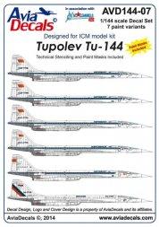 Tupolev Tu-144 1:144
