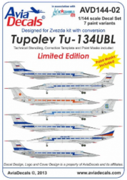 Tupolev Tu-134UBL 1:144