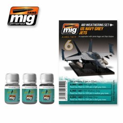AMMO of MiG - US Navy Grey Jets - Weathering Set