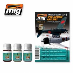 AMMO of MiG Japanese Airplanes WW.II - Weathering Set