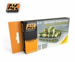 German Rotbraun & Olivgrün Camouflage Set