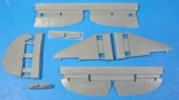La-5 corrected surfaces, oil cooler, bomb rack 1:48