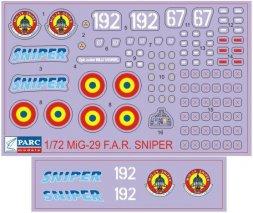 MiG-29 F.A.R. Sniper 1:72