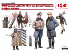 German Luftwaffe Ground Personnel in Winter Uni. 1:48